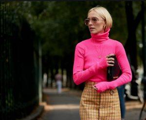 έντονο ροζ ζιβάγκο πουλόβερ