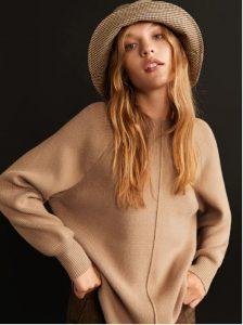 πλεκτό κάμελ πουλόβερ