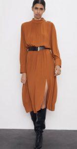 πορτοκαλί χειμερινό φόρεμα 2020