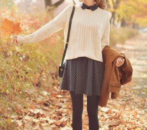 πουά φόρεμα πουλόβερ