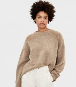 πουλόβερ με στρογγυλή λαιμόκοψη