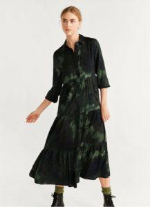 πράσινο φόρεμα τύπου πουκάμισο