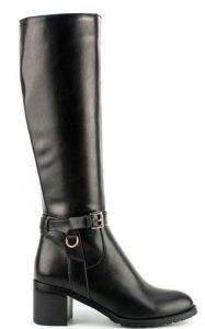 ψηλή μαύρη μπότα