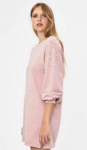 ροζ φόρεμα με πούλιες