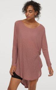 ροζ μακριά χειμωνιάτικη γυναικεία μπλούζα