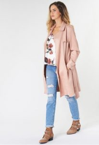 ροζ παλτό