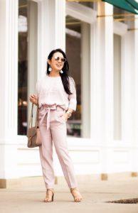 ροζ ψηλόμεσο παντελόνι σωματότυπο