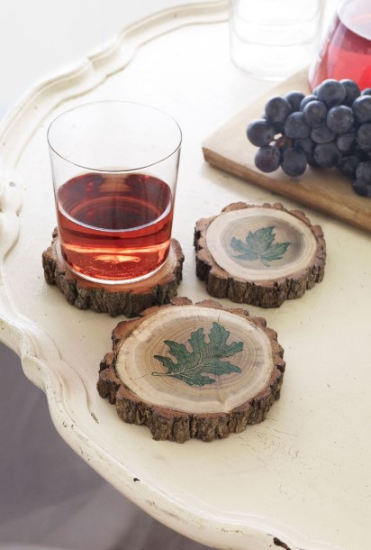 σουβέρ για ποτήρια από ξύλο