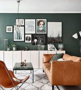 σκούρο πράσινο για τον τοίχο