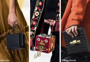 μοντέρνες γυναικείες τσάντες σε σχήμα κύβου