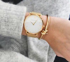 ρολόι με βραχιόλι χρυσό, ediva.gr