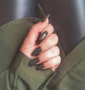 χακί μακριά νύχια χρώματα νυχιών φθινόπωρο