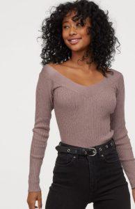 χειμερινή γυναικεία μπλούζα v λαιμόκοψη