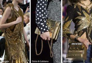 χρυσές γυναικείες τσάντες