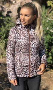 animal print γυναικείο μπουφάν διπλής όψης