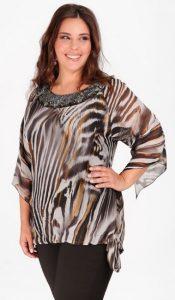 animal print γυναικεία βραδινή μπλούζα