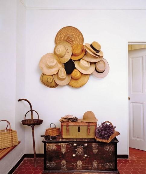 αποθήκευση καπέλων τοίχο διακόσμηση τοίχου