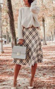 άσπρη καρό φούστα άλφα γραμμή