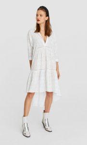 άσπρο ασύμμετρο φόρεμα