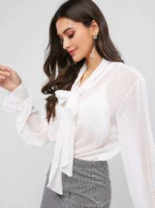 άσπρο διάφανο πουκάμισο ρούχα για όλες τις ώρες