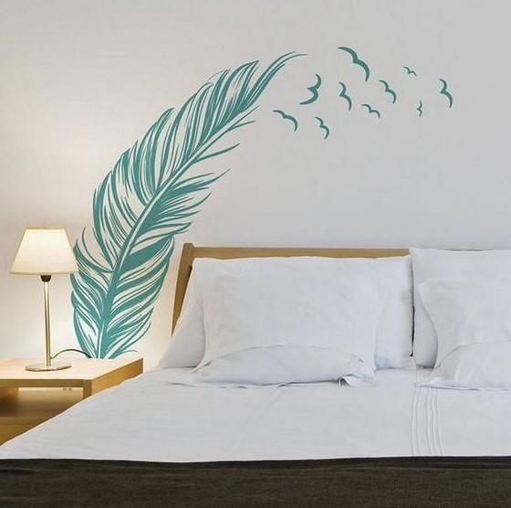 αυτοκόλλητο τοίχου φύλλα οικονομικοί τρόποι ανανεώσεις υπνοδωμάτιο