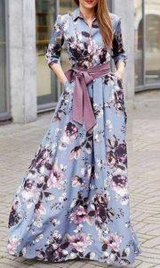floral φόρεμα γάμου χειμώνας 2020