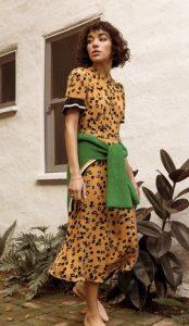 Φλοράλ φόρεμα κίτρινο