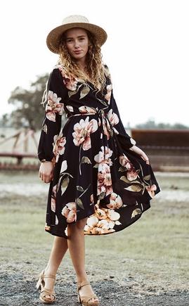 Φλορά φόρεμα μακρύ