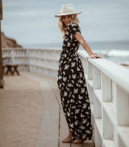 Φλοράλ μακρύ φόρεμα