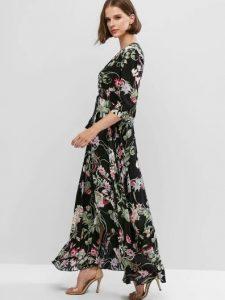 φλοράλ μάξι φόρεμα ρούχα για όλες τις ώρες