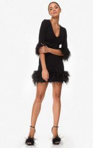 φόρεμα μακριμάνικο φτερά zini χειμώνα
