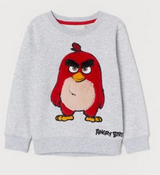 angry bird φούτερ γκρι