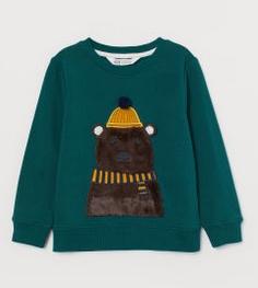 Φούτερ πράσινο με αρκούδα