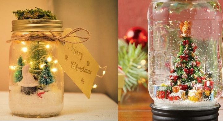 Χριστουγεννιάτικες ιδέες για γυάλινα βαζάκια!