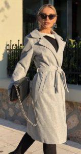 γκρι γυναικείο παλτό χειμώνας 2020