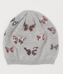 Γκρι Σκούφος με πεταλούδες