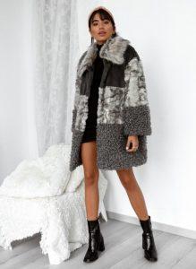 γούνα γκρι μακριά γυναικεία πανωφόρια χειμώνα