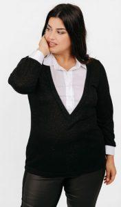 γυναικεία πλεκτή μπλούζα πουκάμισο