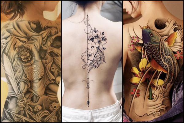 υπέροχα τατουάζ πλάτης