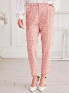 καρό κόκκινο παντελόνι
