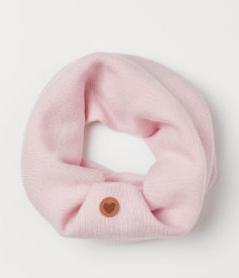 Κασκόλ ροζ μάλλινο