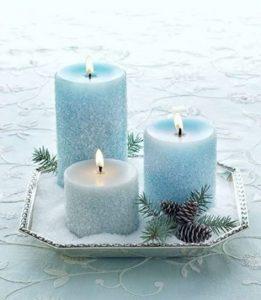 κεριά κεντρική διακόσμηση
