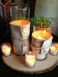κεριά με φλοίδες δέντρου