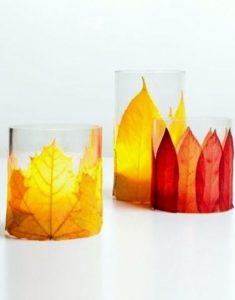 κεριά με φύλλα