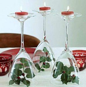 κεριά με ποτήρια