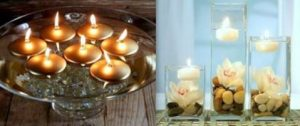 κεριά που επιπλέουν