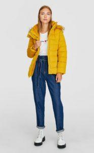 κίτρινο μπουφάν κουκούλα