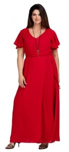 κόκκινο φθινοπωρινό φόρεμα