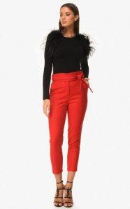 κόκκινο παντελόνι ψηλόμεσο