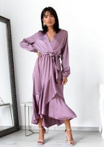 κρουαζέ λιλά φόρεμα